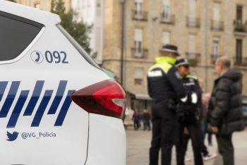 policía agresión pareja