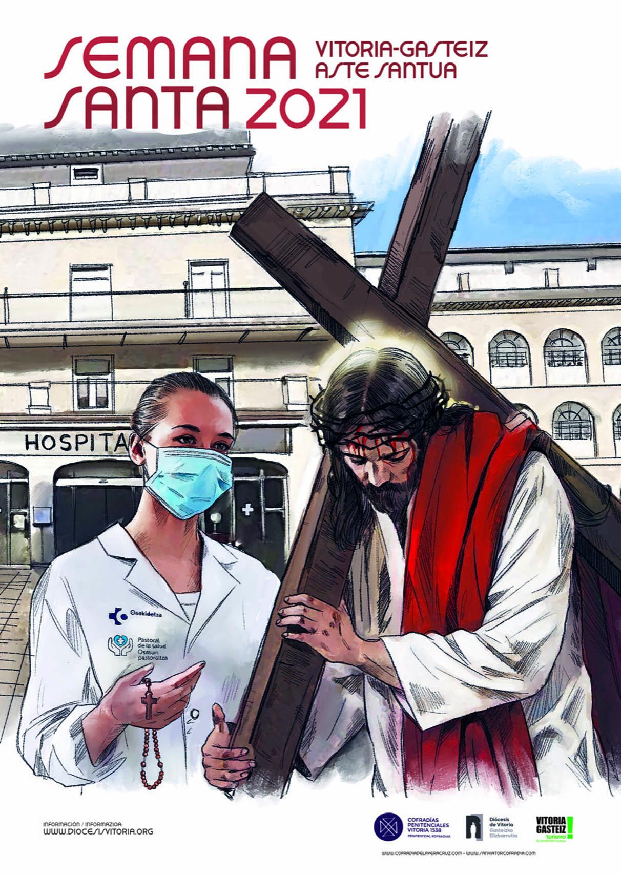 La Semana Santa vitoriana agradece el trabajo de los sanitarios en el último año | Gasteiz Hoy