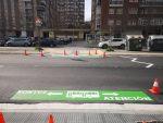 Vitoria señaliza zonas de paso sin preferencia peatonal por el BEI