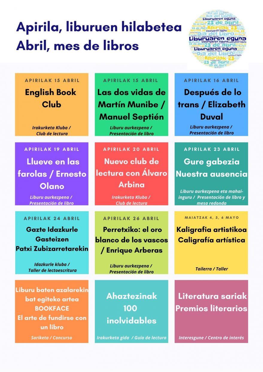 Abril, mes de libros- Casa de Cultura Ignacio Aldecoa