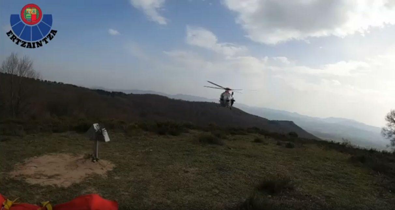 ertzaintza helicoptero rescate