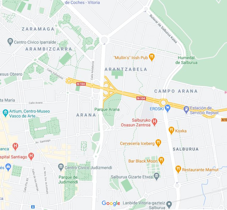 google maps arambizcarra campo arana