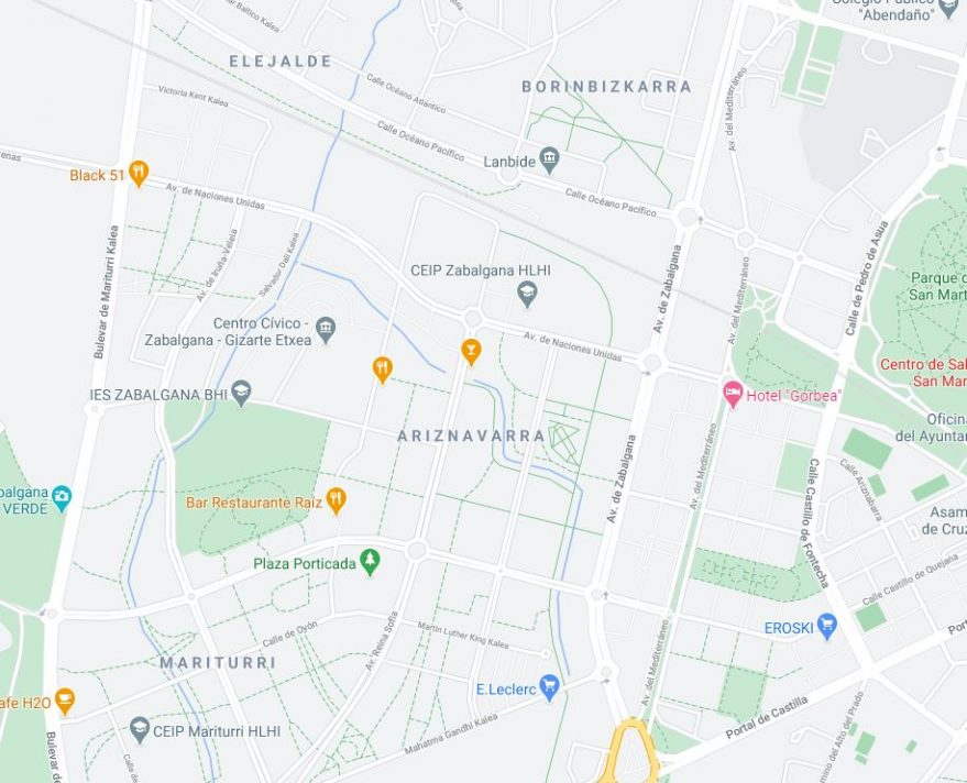 google maps zabalgana ariznavarra