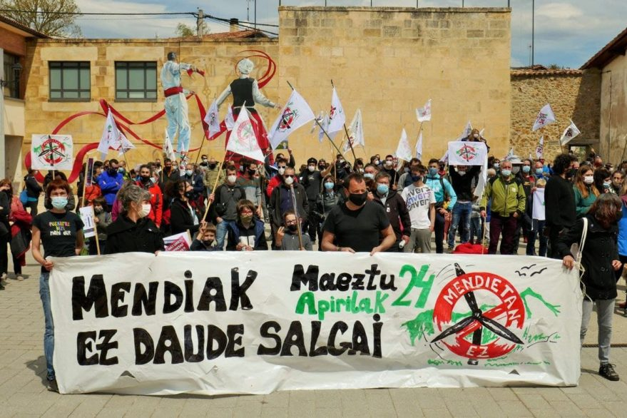protesta parques eólicos álava