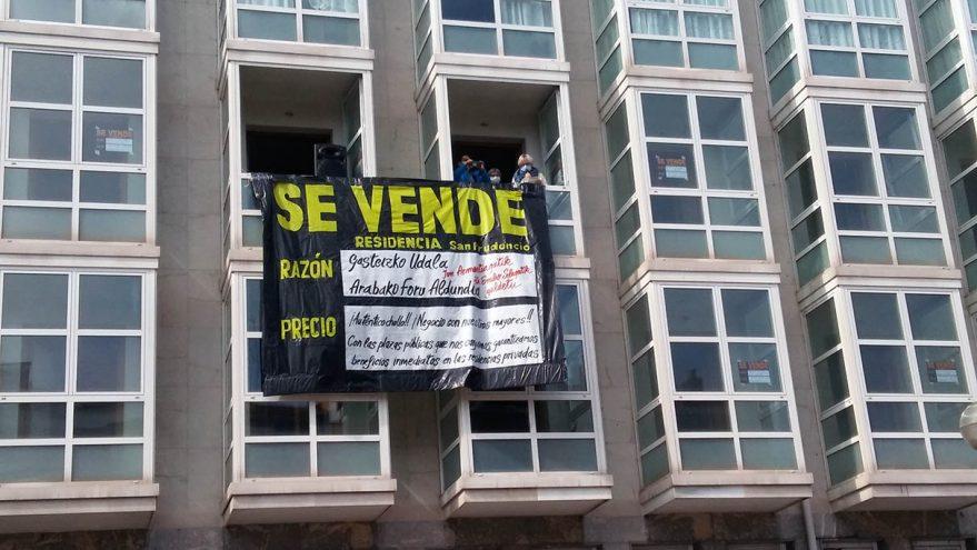 protesta san prudencio residencia