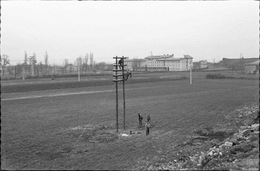 Aspecto del actual barrio de Santa Lucía en 1962. Al fondo la clínica Arana. ARQUÉ. AMVG