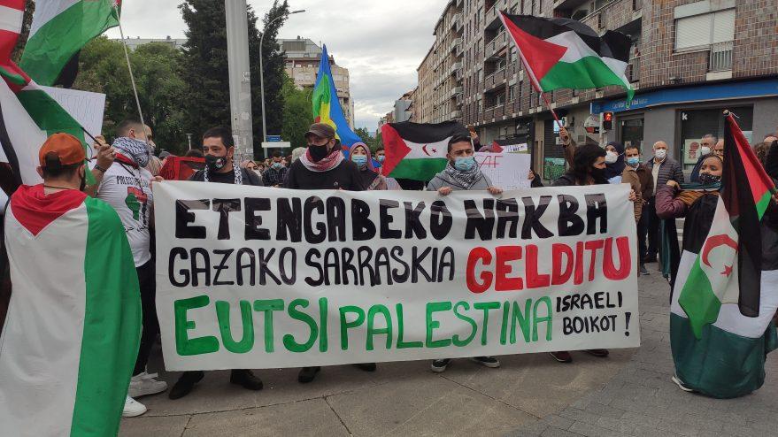 protesta palestina vitoria