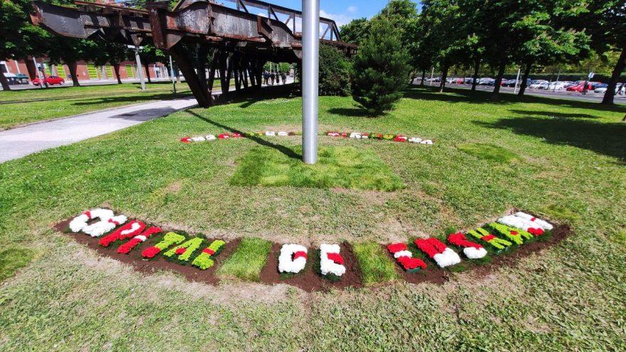 flores ikurriña capital de euskadi
