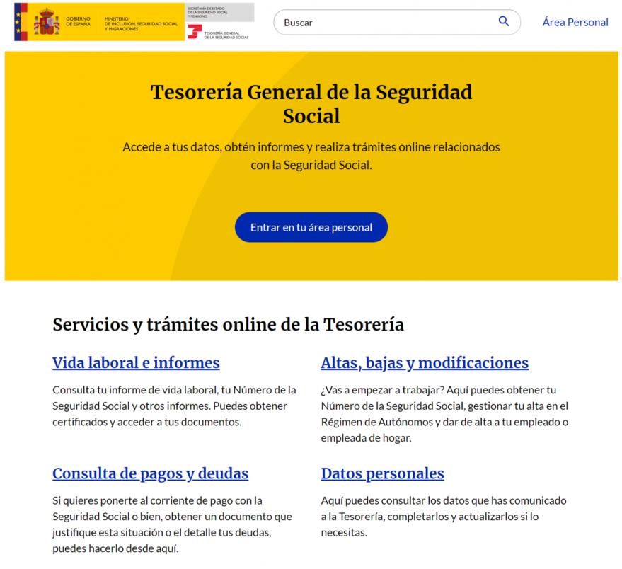 tramites online seguridad social