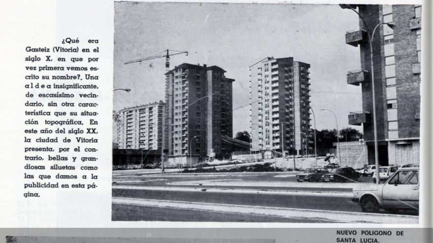 Aspecto de Santa Lucía desde la actual calle Jacinto Benavente en 1981. Vida Vasca de 1981. Euskal Memoria Digitala. Fundación Sancho el Sabio.