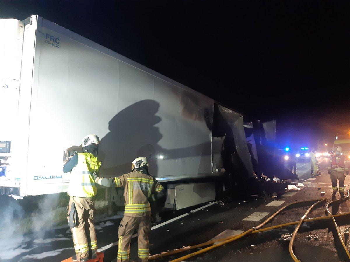 incendio camion armiñon