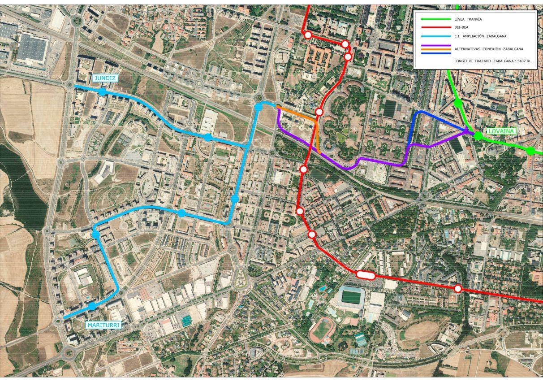 El tranvía a Zabalgana irá por Abendaño y pasará junto al nuevo Ayuntamiento   Gasteiz Hoy