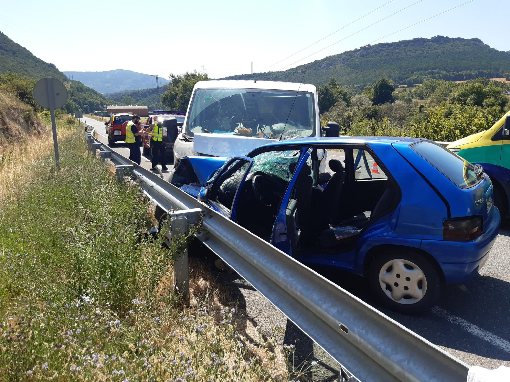 accidente frontal pobes