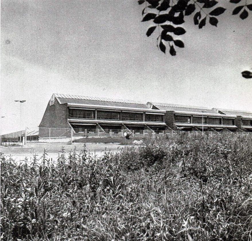 Aspecto de Arkaute recién inaugurado en 1973.