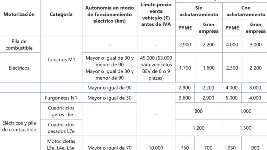 ayuda coches electricos actividad economica