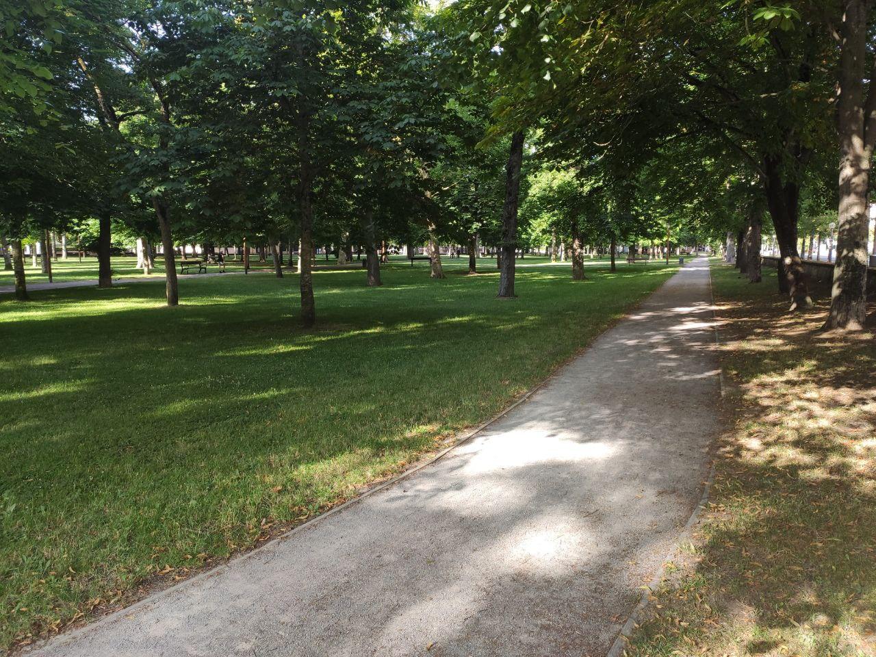 pista correr parque prado