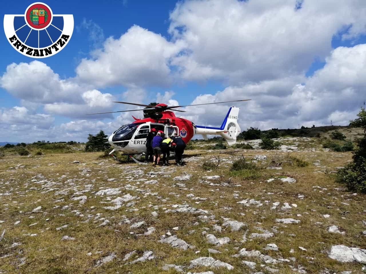 rescate cotorrillo helicóptero