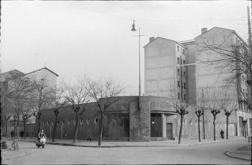 Antigua piscina del Club Natación Judizmendi en 1961. ARQUÉ. AMVG