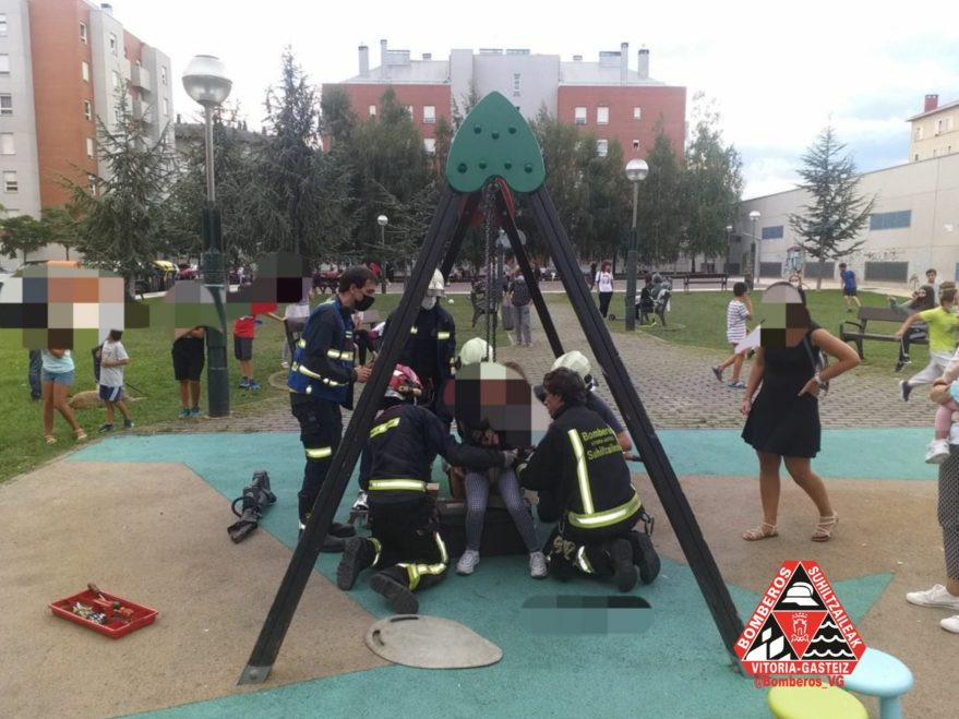 Bomberos rescate