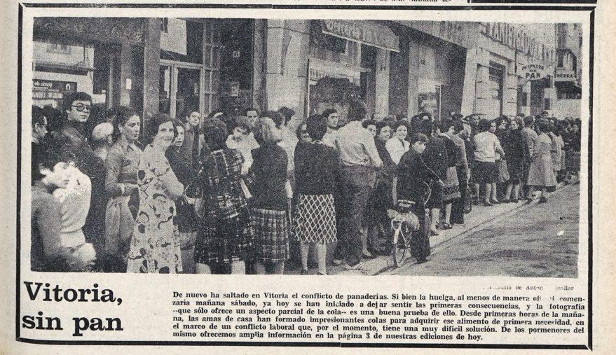 huelga de panaderos en Vitoria