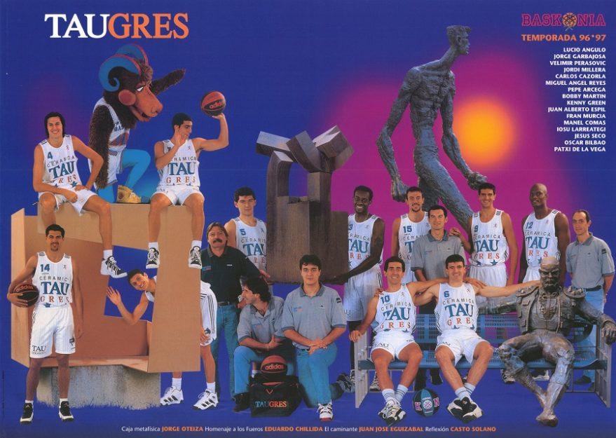 Poster del Taugrés Baskonia 96/97