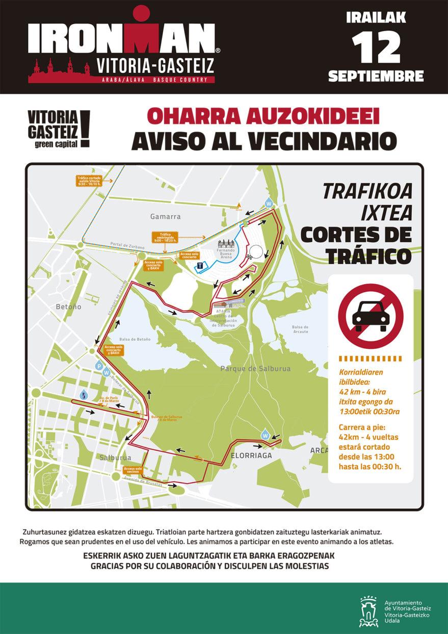 Calles Cortadas Vitoria Ironman 2021