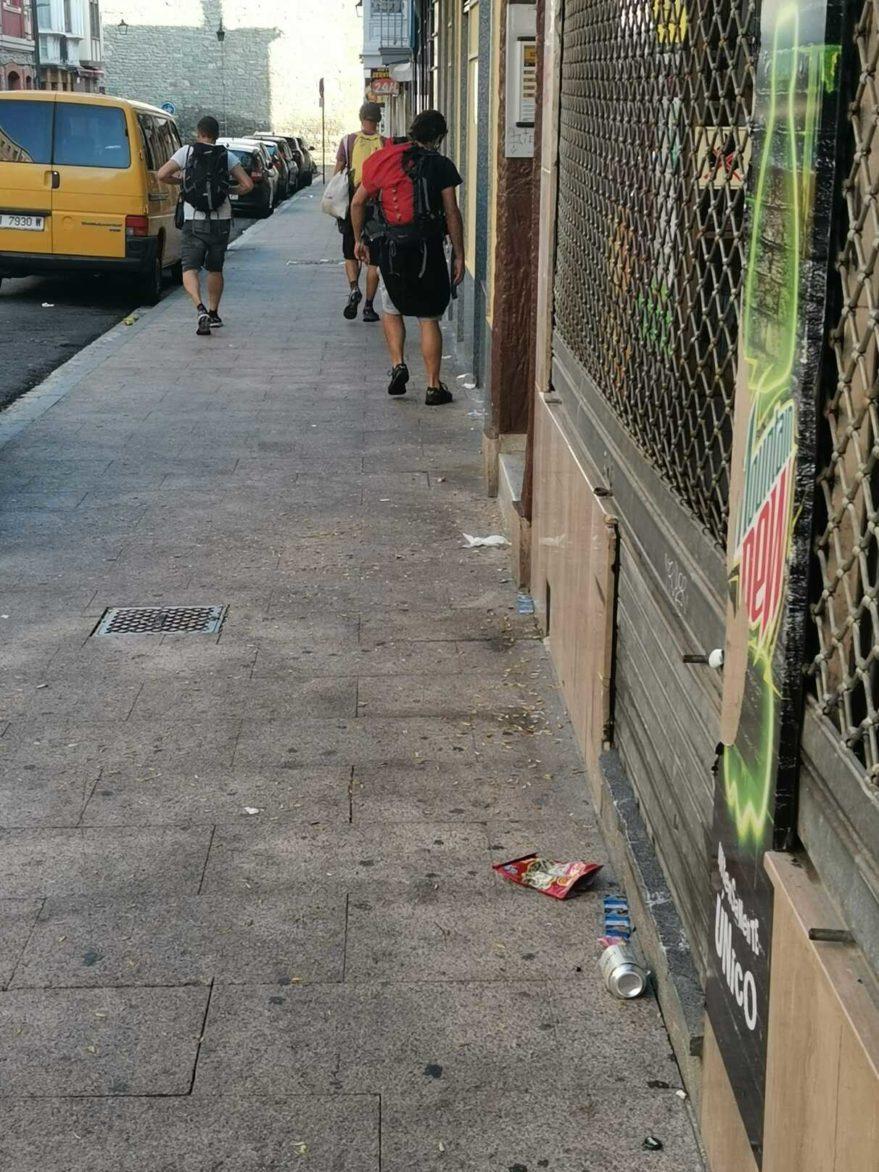 basura calle nueva fuera