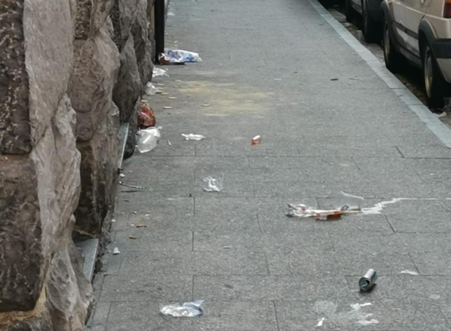 basura calles casco viejo