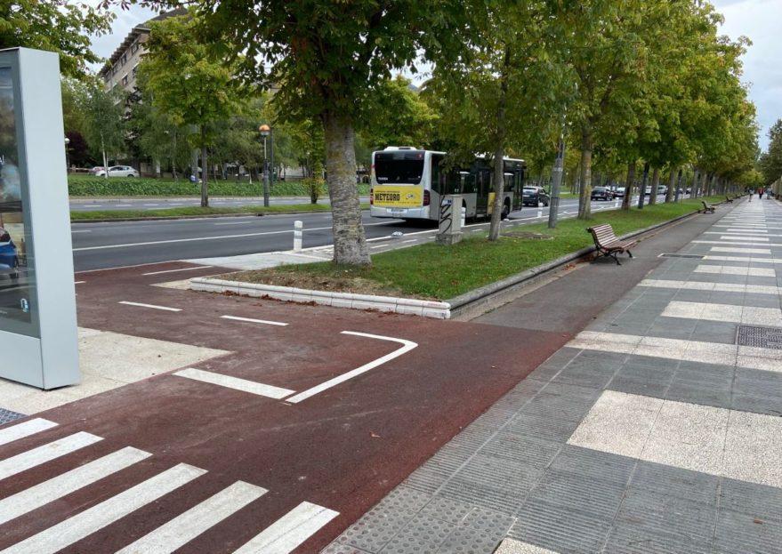 bulevar euskal herria carril bici